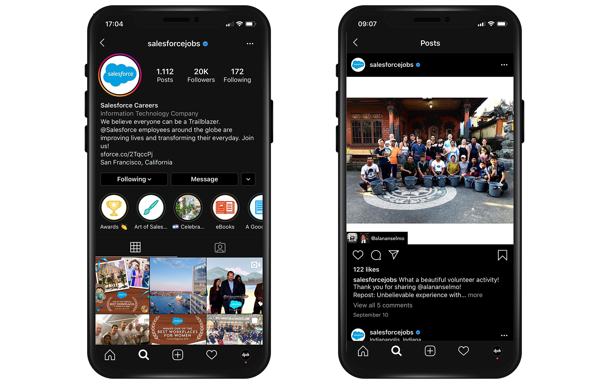 Salesforce jobs Instagram